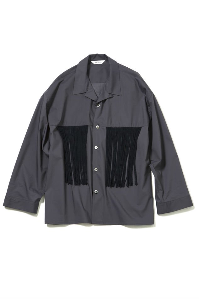 soe<br />L/S Fringe Shirt GRAY<img class='new_mark_img2' src='//img.shop-pro.jp/img/new/icons47.gif' style='border:none;display:inline;margin:0px;padding:0px;width:auto;' />