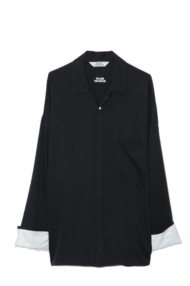 HELLOS EXTRAFINE<br />Open Collar Shirt Jacket<img class='new_mark_img2' src='//img.shop-pro.jp/img/new/icons47.gif' style='border:none;display:inline;margin:0px;padding:0px;width:auto;' />