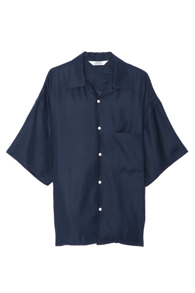 HELLOS EXTRAFINE<br />H/S Shirt Open Collar Navy <img class='new_mark_img2' src='//img.shop-pro.jp/img/new/icons47.gif' style='border:none;display:inline;margin:0px;padding:0px;width:auto;' />