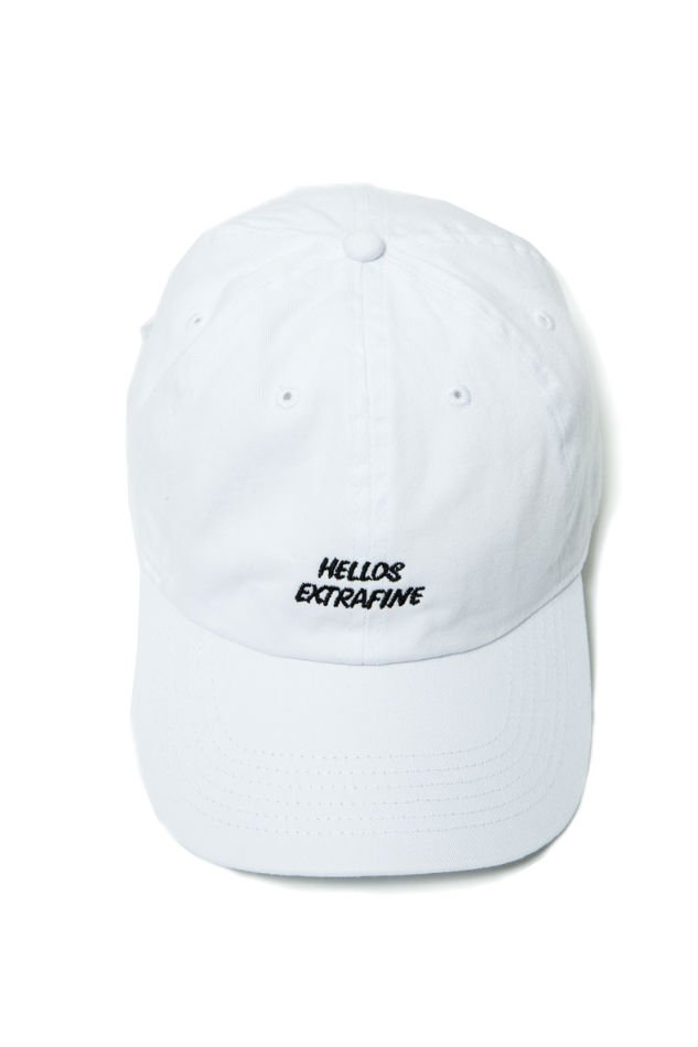 HELLOS EXTRAFINE<br />Logo 6 Panel Cap White<img class='new_mark_img2' src='//img.shop-pro.jp/img/new/icons47.gif' style='border:none;display:inline;margin:0px;padding:0px;width:auto;' />