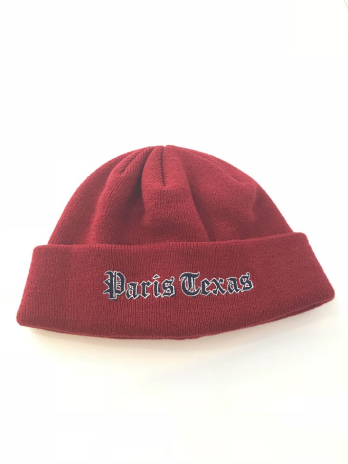JieDa<br />EMBROIDERY KNIT CAP RED <img class='new_mark_img2' src='//img.shop-pro.jp/img/new/icons14.gif' style='border:none;display:inline;margin:0px;padding:0px;width:auto;' />