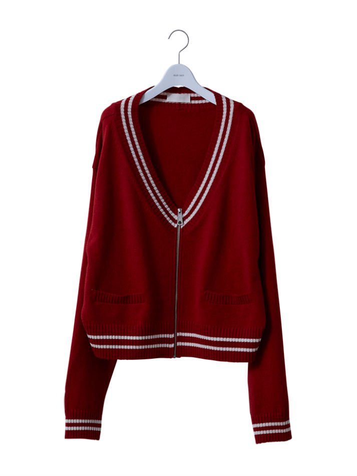 NEON SIGN<br />LETTERED ZIP CARDIGAN RED<img class='new_mark_img2' src='//img.shop-pro.jp/img/new/icons47.gif' style='border:none;display:inline;margin:0px;padding:0px;width:auto;' />