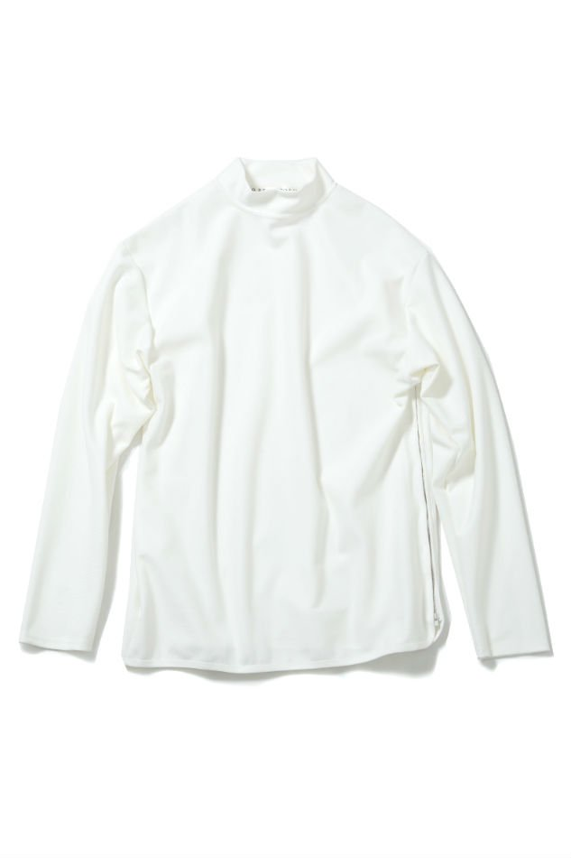 soe<br />[30%off] Side Zip L/S Mock-Neck T WHITE<img class='new_mark_img2' src='//img.shop-pro.jp/img/new/icons20.gif' style='border:none;display:inline;margin:0px;padding:0px;width:auto;' />