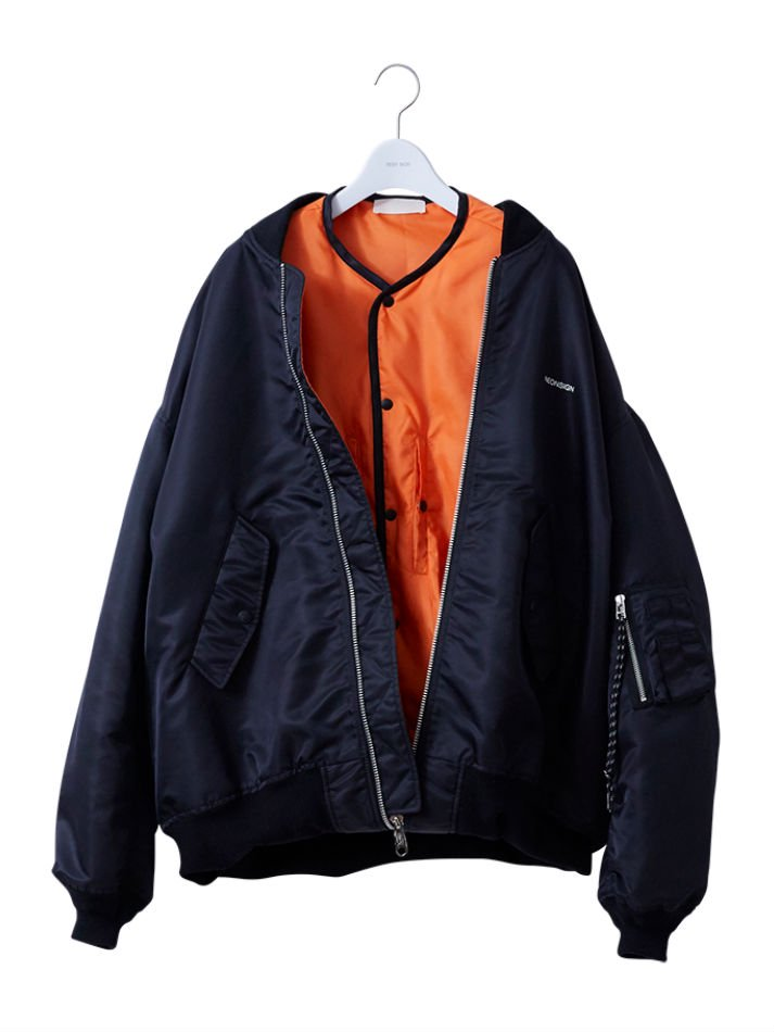 NEON SIGN<br />SANDWICH BOMBER JACKET<img class='new_mark_img2' src='//img.shop-pro.jp/img/new/icons14.gif' style='border:none;display:inline;margin:0px;padding:0px;width:auto;' />