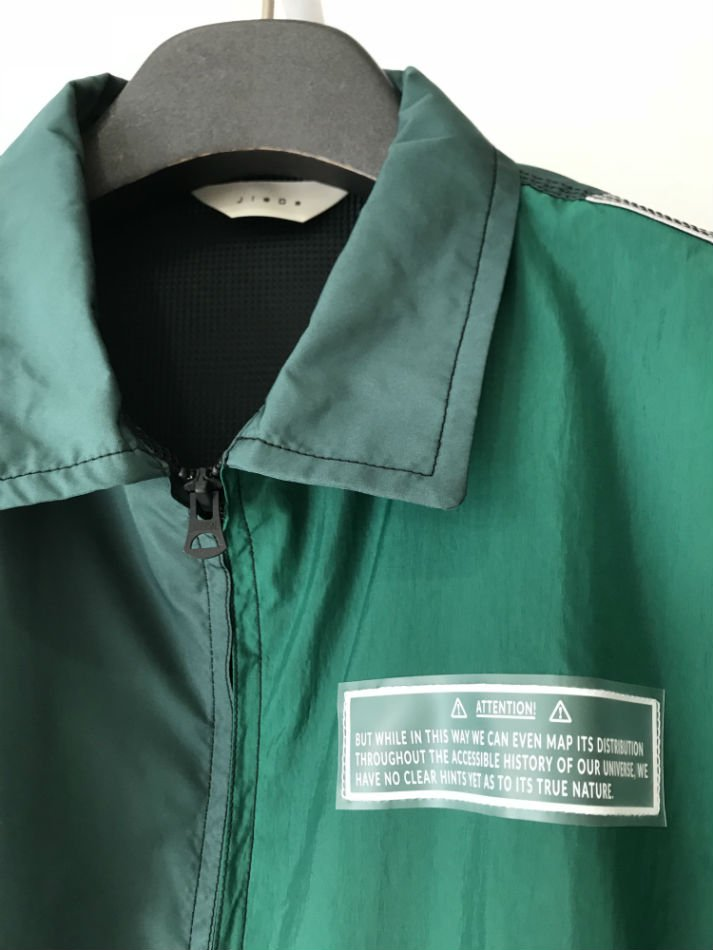 JieDa<br />NYLON SWITCHING JACKET GREEN<img class='new_mark_img2' src='//img.shop-pro.jp/img/new/icons47.gif' style='border:none;display:inline;margin:0px;padding:0px;width:auto;' />