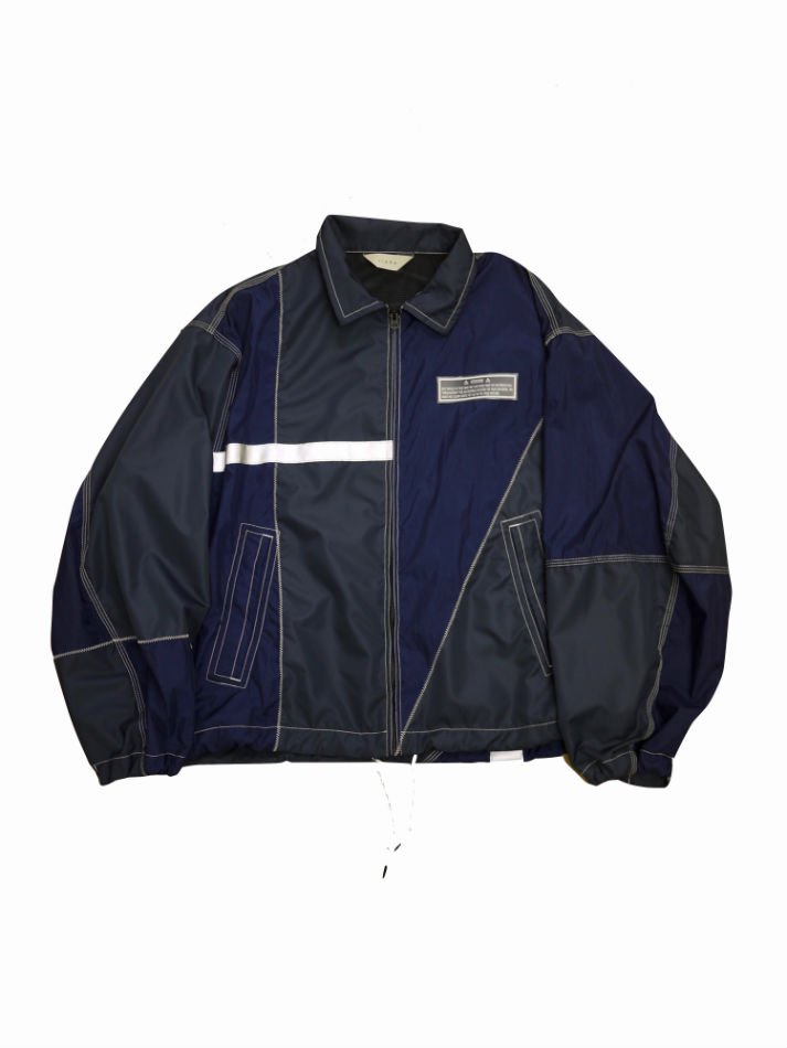 JieDa<br />NYLON SWITCHING JACKET NAVY<img class='new_mark_img2' src='//img.shop-pro.jp/img/new/icons47.gif' style='border:none;display:inline;margin:0px;padding:0px;width:auto;' />