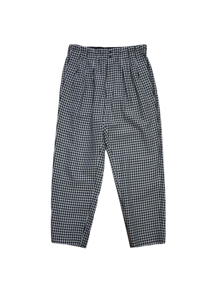 JieDa<br />GINGHAM 3TUCK SLACKES WHT×BK<img class='new_mark_img2' src='//img.shop-pro.jp/img/new/icons47.gif' style='border:none;display:inline;margin:0px;padding:0px;width:auto;' />