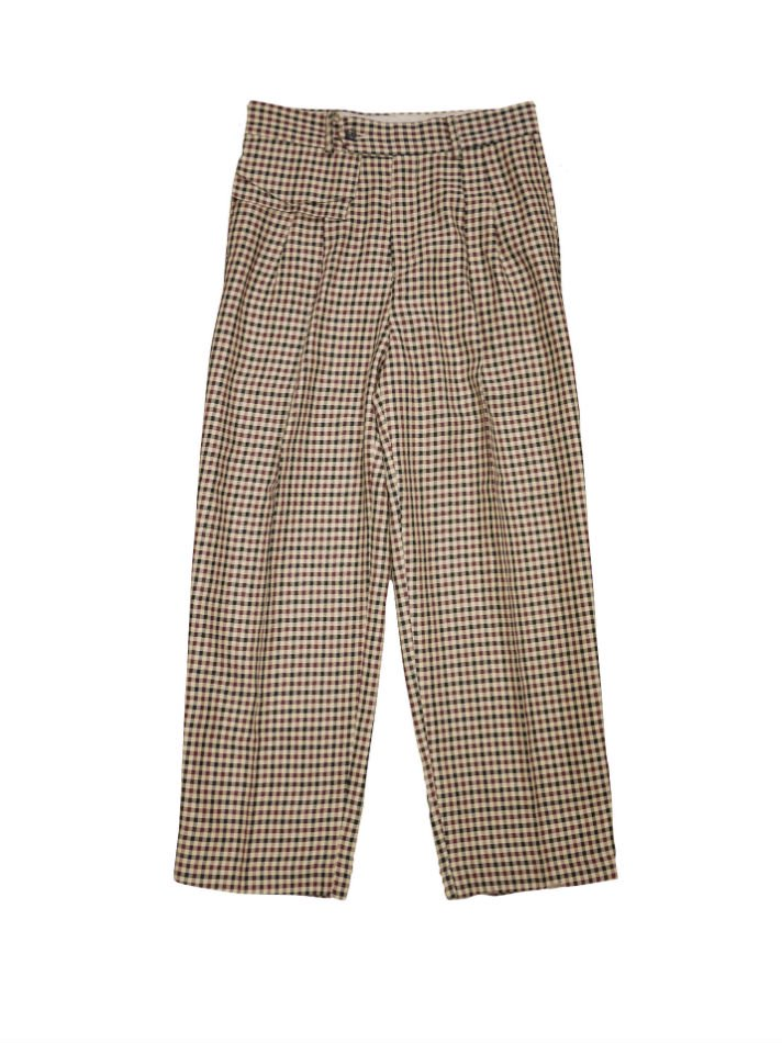 JieDa<br />POCKET GINGHAM SLACKES BEIGE <img class='new_mark_img2' src='//img.shop-pro.jp/img/new/icons14.gif' style='border:none;display:inline;margin:0px;padding:0px;width:auto;' />
