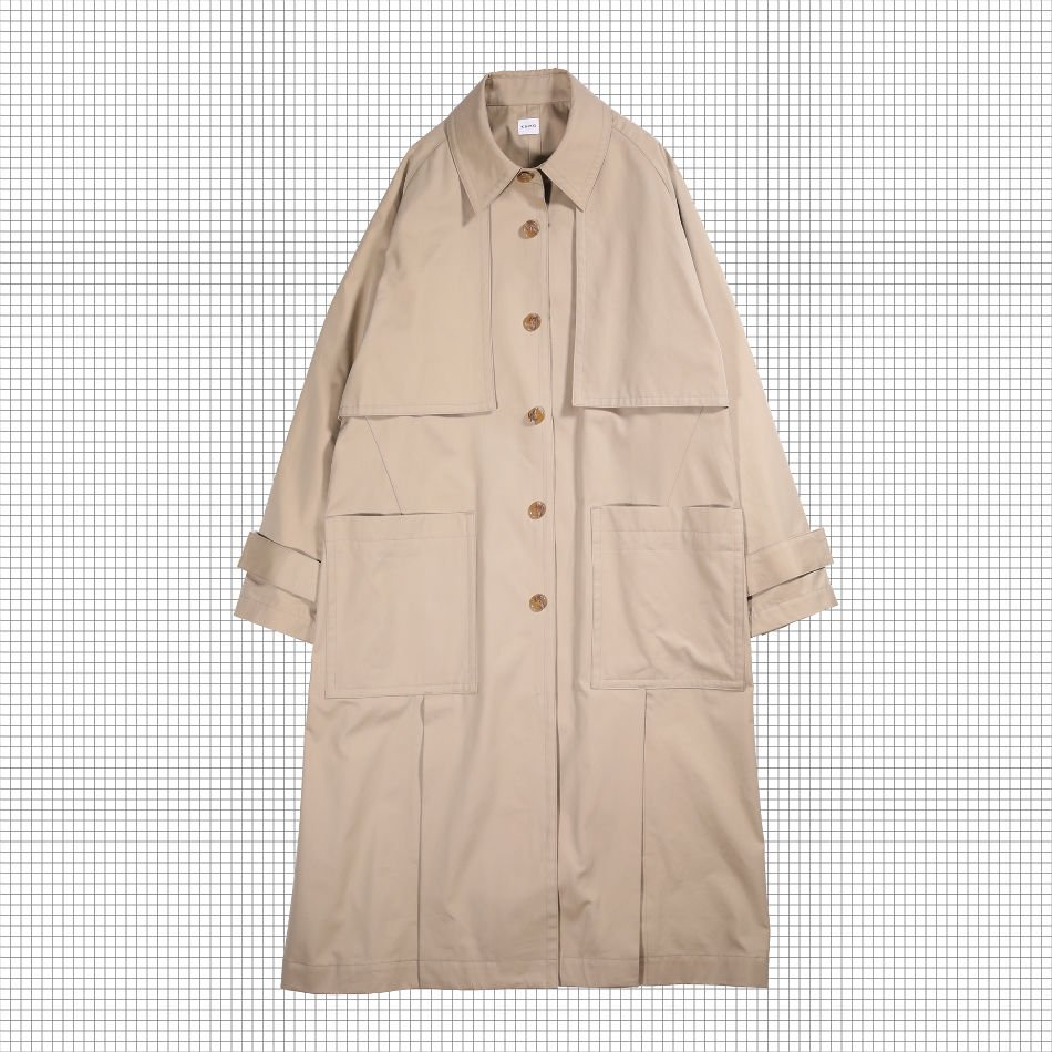 KAIKO<br />SINGLE TRENCH COAT BEIGE<img class='new_mark_img2' src='//img.shop-pro.jp/img/new/icons14.gif' style='border:none;display:inline;margin:0px;padding:0px;width:auto;' />