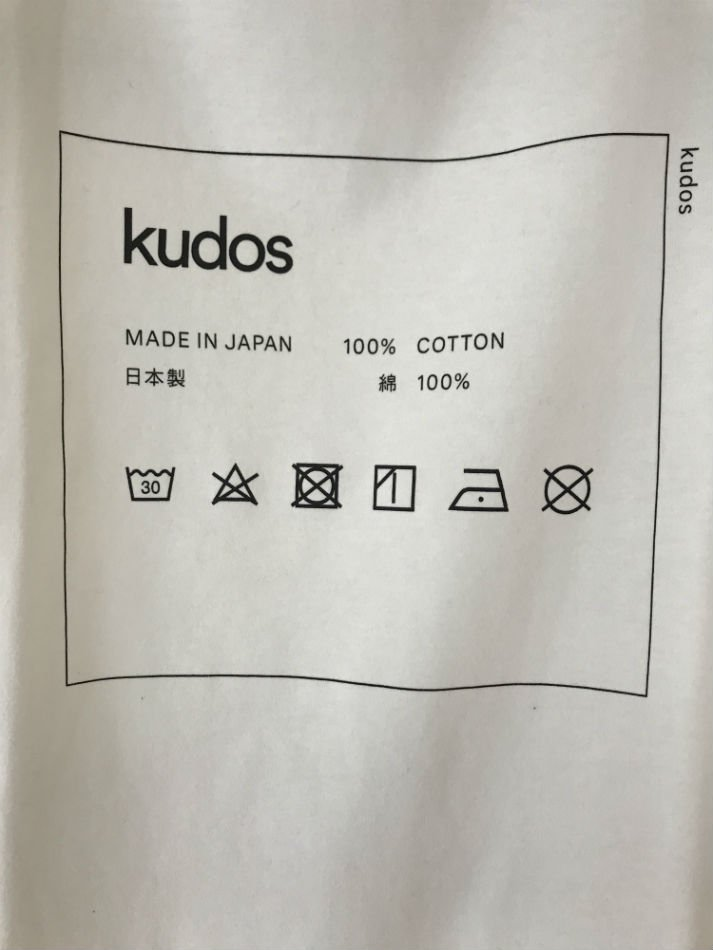 kudos<br />CARE-TAG T-SHIRT WHITE <img class='new_mark_img2' src='//img.shop-pro.jp/img/new/icons47.gif' style='border:none;display:inline;margin:0px;padding:0px;width:auto;' />