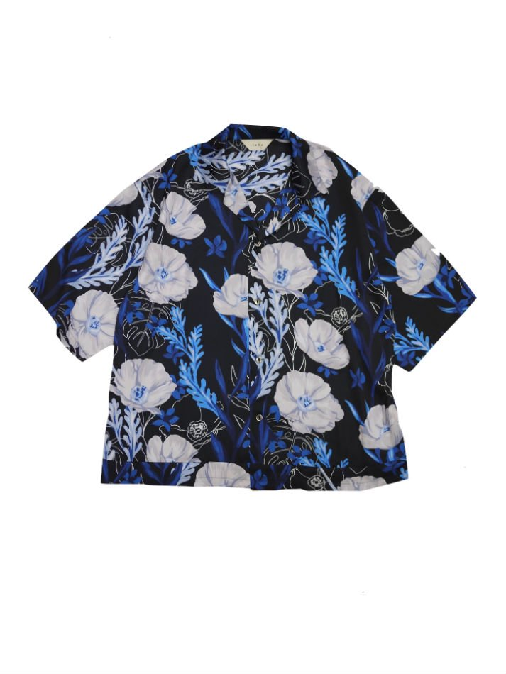 JieDa<br />FLOWER PATTERN S/S SHIRT NAVY<img class='new_mark_img2' src='//img.shop-pro.jp/img/new/icons47.gif' style='border:none;display:inline;margin:0px;padding:0px;width:auto;' />