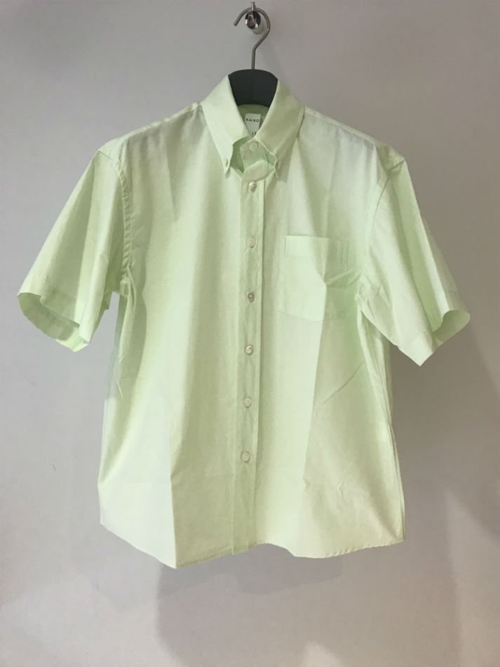 KAIKO<br />[30%off] LAGER B.D HS SHIRT L.GREEN <img class='new_mark_img2' src='//img.shop-pro.jp/img/new/icons20.gif' style='border:none;display:inline;margin:0px;padding:0px;width:auto;' />
