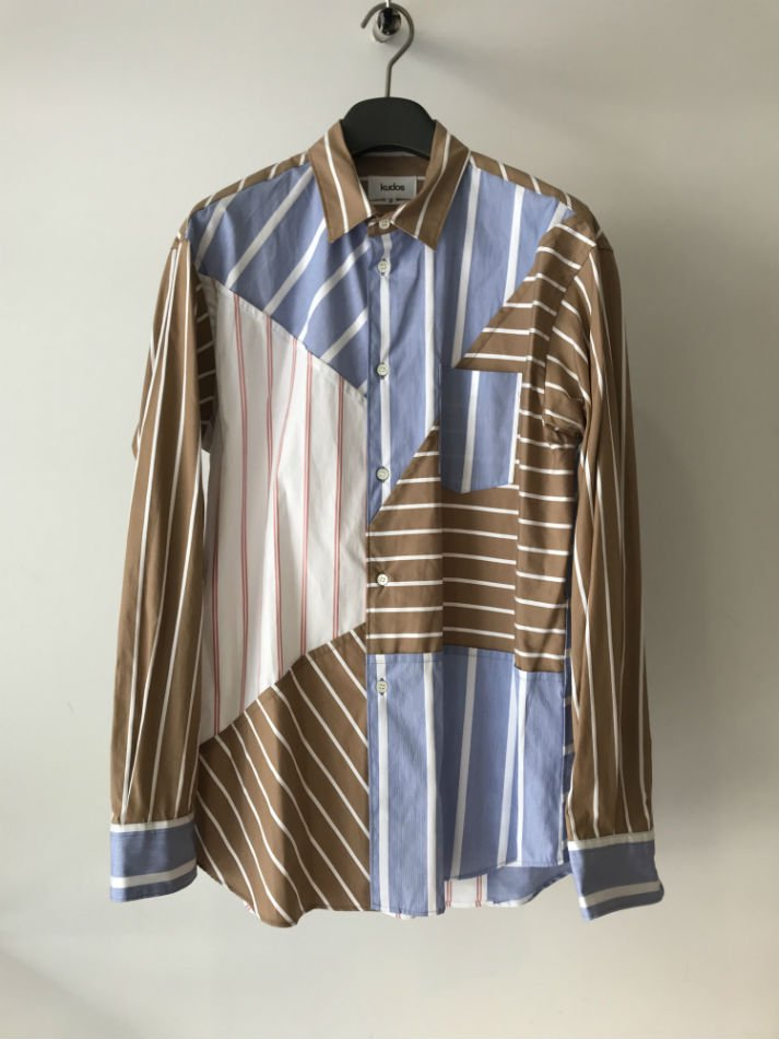kudos<br />BLUE PRINT STRIPE SHIRT MULTI<img class='new_mark_img2' src='//img.shop-pro.jp/img/new/icons14.gif' style='border:none;display:inline;margin:0px;padding:0px;width:auto;' />
