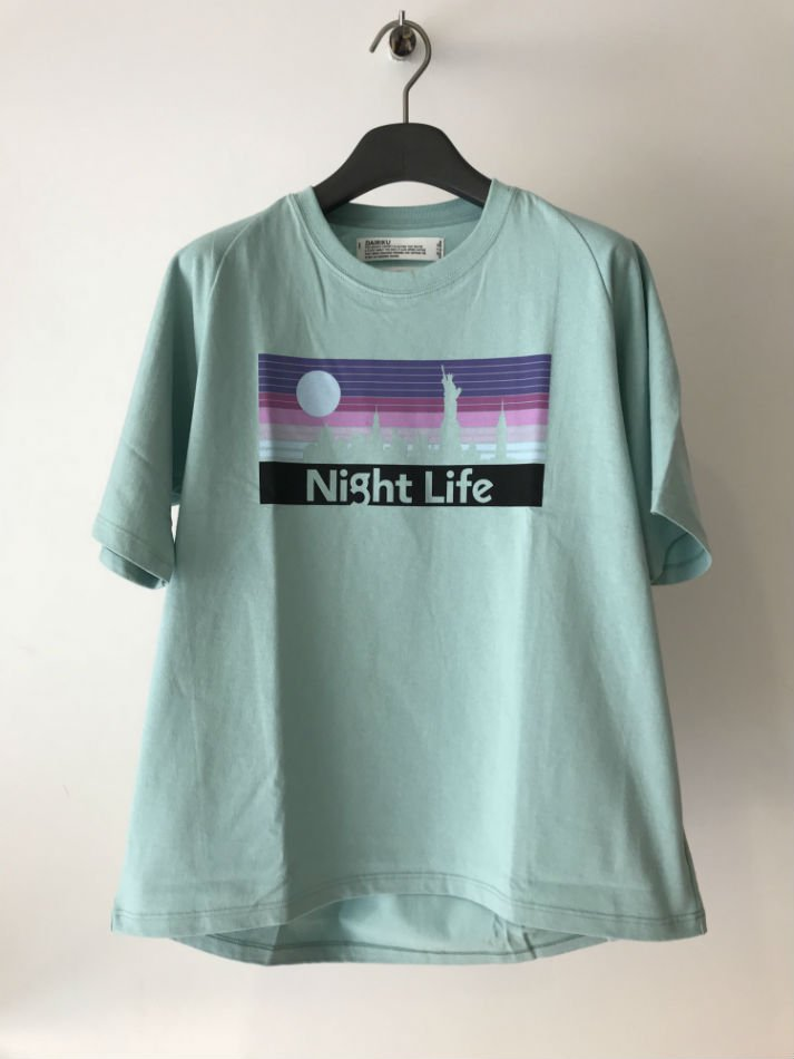 DAIRIKU<br />Night ligfe Dolman-Sleeve T-shirt MINT GREEN<img class='new_mark_img2' src='//img.shop-pro.jp/img/new/icons47.gif' style='border:none;display:inline;margin:0px;padding:0px;width:auto;' />