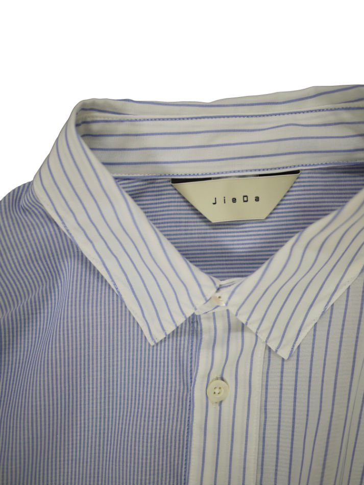 JieDa<br />STRIPE ASYMMETRY SHIRT BLUE<img class='new_mark_img2' src='//img.shop-pro.jp/img/new/icons47.gif' style='border:none;display:inline;margin:0px;padding:0px;width:auto;' />