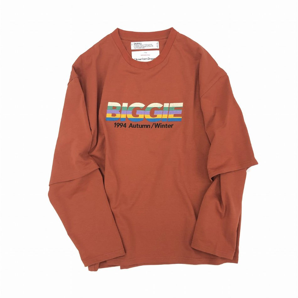 DAIRIKU<br />BIGGIE Layered T-Shirt Orange<img class='new_mark_img2' src='//img.shop-pro.jp/img/new/icons47.gif' style='border:none;display:inline;margin:0px;padding:0px;width:auto;' />
