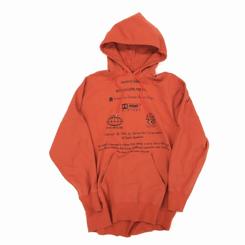DAIRIKU<br />END ROLL VintageWash Hoodie Orange<img class='new_mark_img2' src='//img.shop-pro.jp/img/new/icons14.gif' style='border:none;display:inline;margin:0px;padding:0px;width:auto;' />