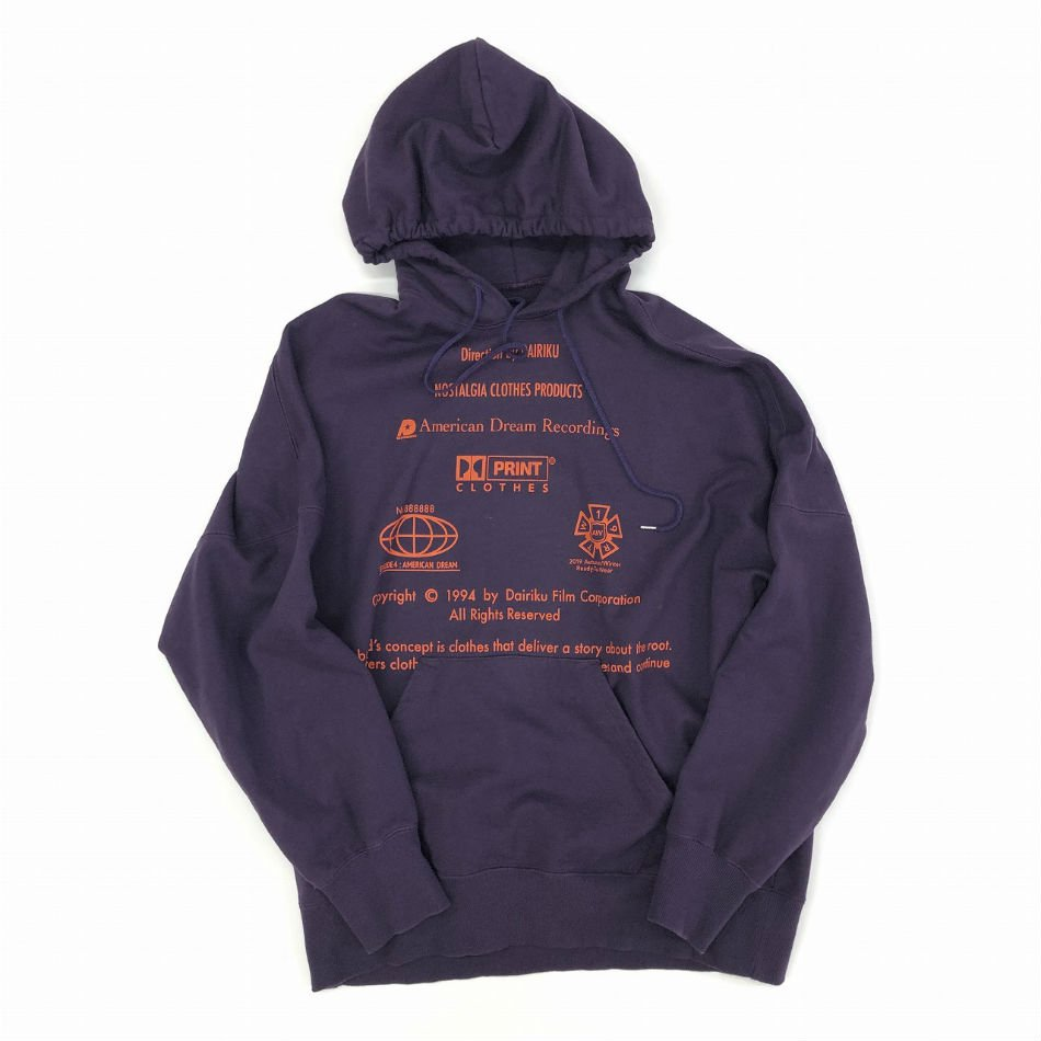 DAIRIKU<br />END ROLL Vintage  Wash Hoodie Purple<img class='new_mark_img2' src='//img.shop-pro.jp/img/new/icons14.gif' style='border:none;display:inline;margin:0px;padding:0px;width:auto;' />
