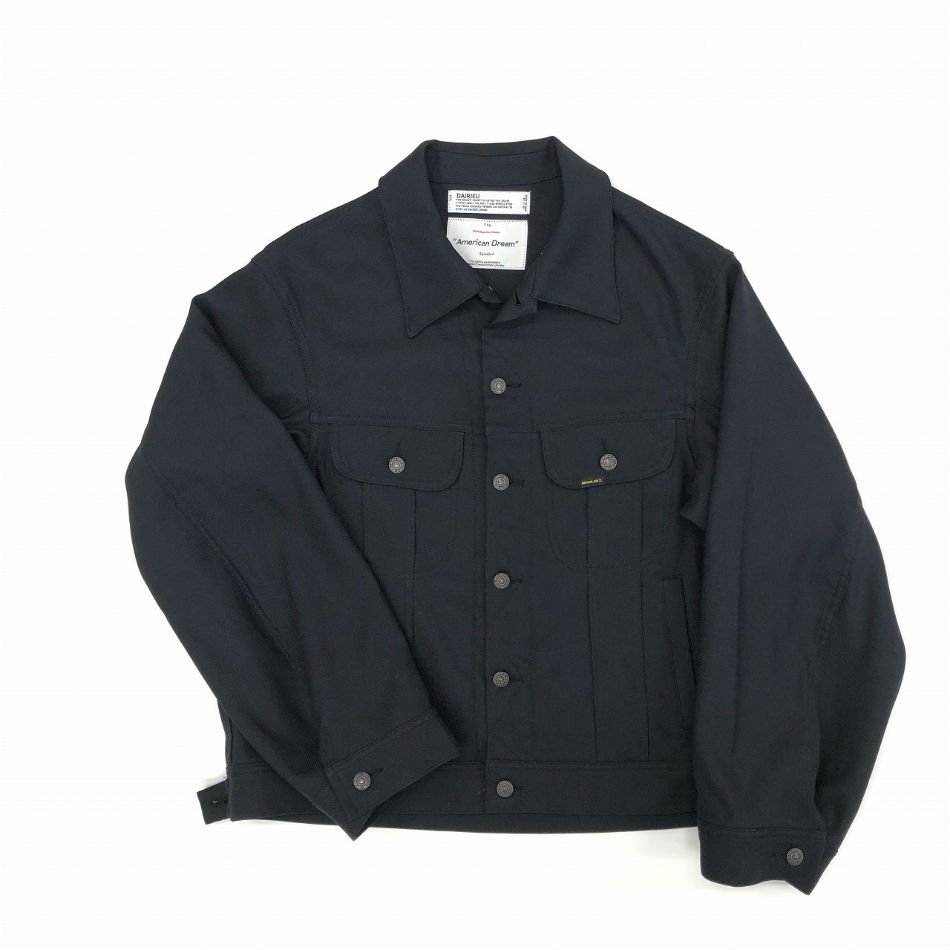 DAIRIKU<br />Regular Polyester Jacket Black<img class='new_mark_img2' src='//img.shop-pro.jp/img/new/icons47.gif' style='border:none;display:inline;margin:0px;padding:0px;width:auto;' />