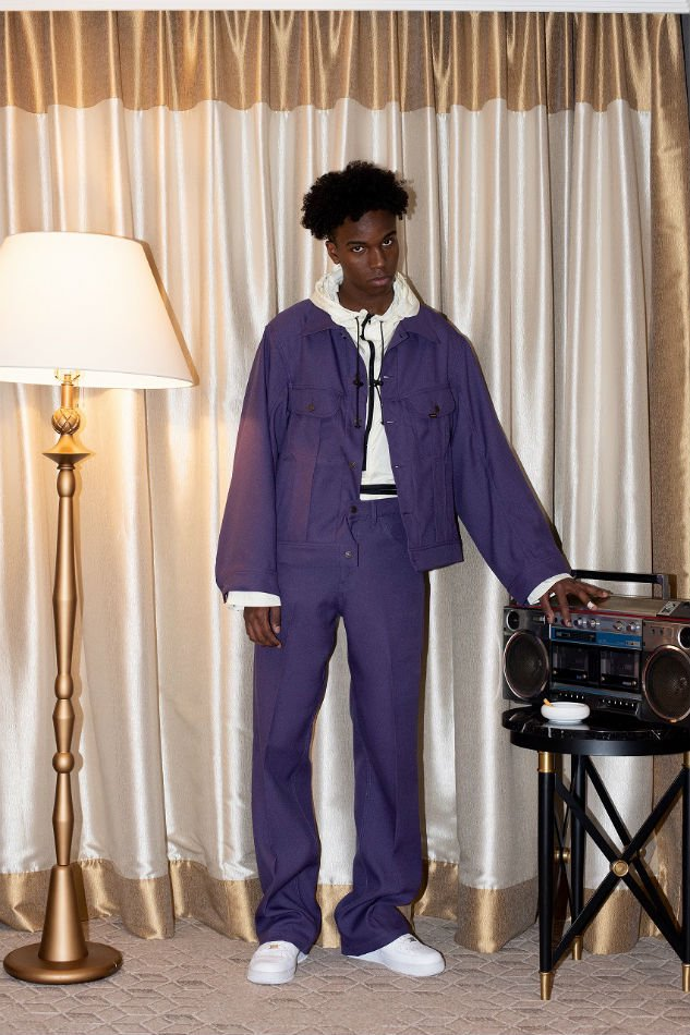 DAIRIKU<br />Flasher Pressed Pants Purple<img class='new_mark_img2' src='//img.shop-pro.jp/img/new/icons47.gif' style='border:none;display:inline;margin:0px;padding:0px;width:auto;' />