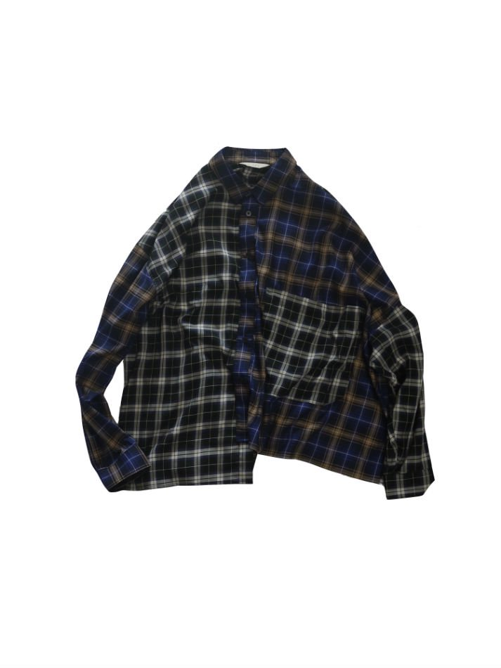 JieDa<br />ASMMETRY L/S SHIRT PPL×NV<img class='new_mark_img2' src='//img.shop-pro.jp/img/new/icons47.gif' style='border:none;display:inline;margin:0px;padding:0px;width:auto;' />