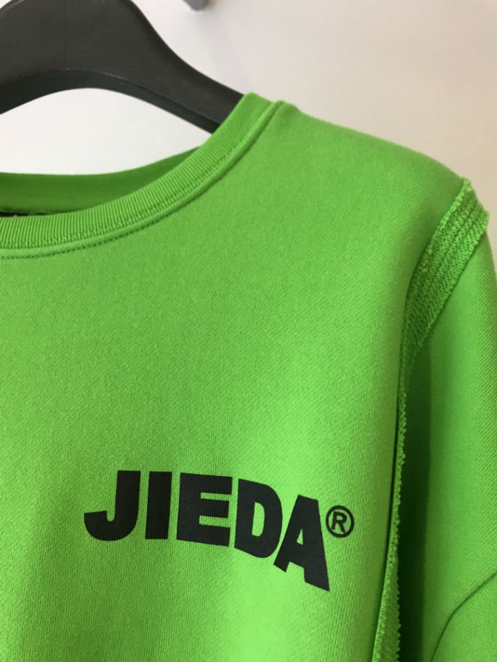 JieDa<br />JieDa LOGO SWITCHING SWEAT SHIRT GREEN<img class='new_mark_img2' src='//img.shop-pro.jp/img/new/icons47.gif' style='border:none;display:inline;margin:0px;padding:0px;width:auto;' />