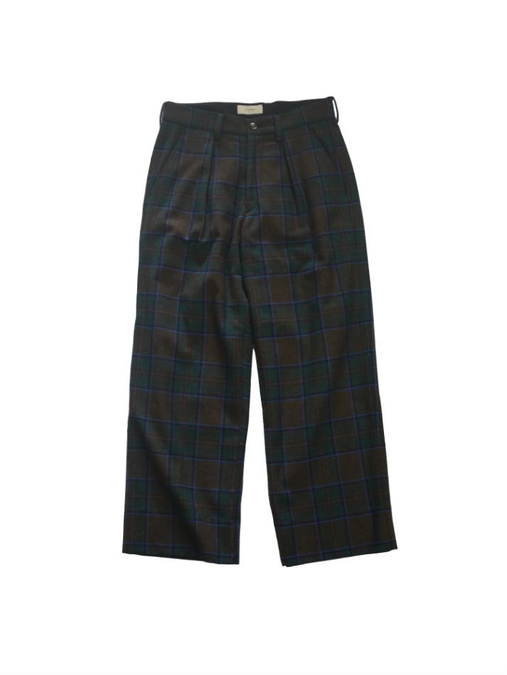 JieDa<br />PLAID WIDE SLACKS BROWN<img class='new_mark_img2' src='//img.shop-pro.jp/img/new/icons14.gif' style='border:none;display:inline;margin:0px;padding:0px;width:auto;' />