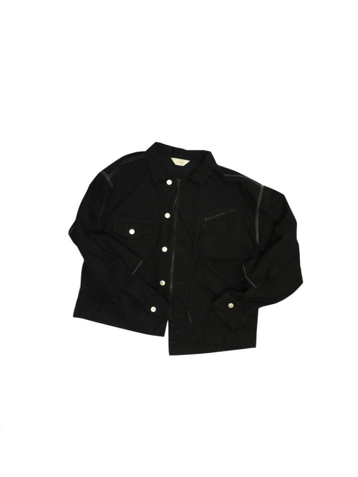 JieDa<br />SWITCHING JEAN JACKET O/W BLACK<img class='new_mark_img2' src='//img.shop-pro.jp/img/new/icons47.gif' style='border:none;display:inline;margin:0px;padding:0px;width:auto;' />