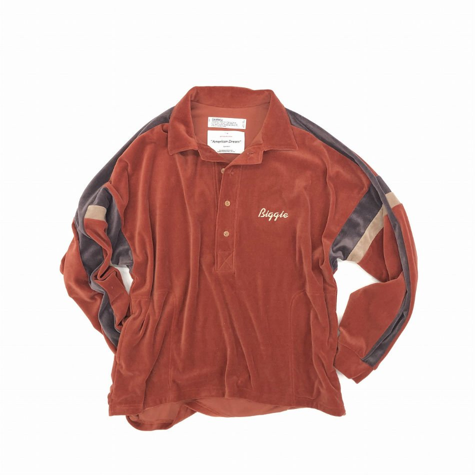 DAIRIKU<br />Biggie Velor Shirt Orange<img class='new_mark_img2' src='//img.shop-pro.jp/img/new/icons47.gif' style='border:none;display:inline;margin:0px;padding:0px;width:auto;' />