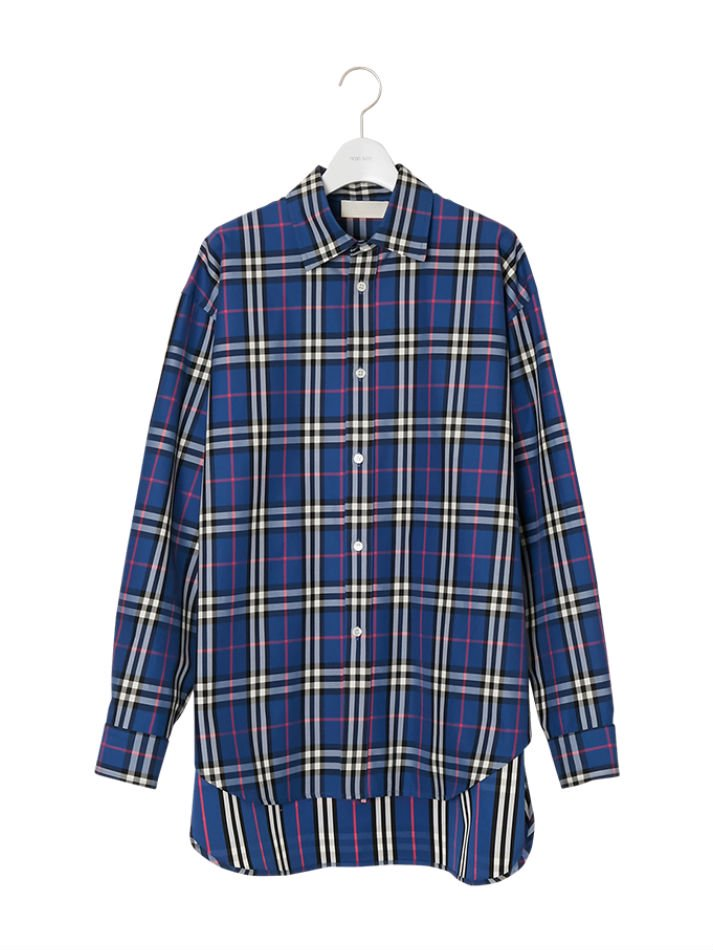 NEON SIGN<br />Tartan Check Long Tail Shirts BLU<img class='new_mark_img2' src='//img.shop-pro.jp/img/new/icons47.gif' style='border:none;display:inline;margin:0px;padding:0px;width:auto;' />