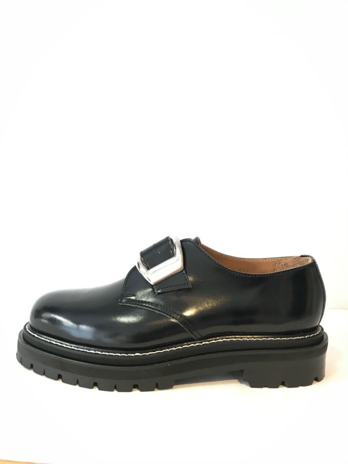 soe<br />One Buckle Plain Toe Shoes BLACK<img class='new_mark_img2' src='//img.shop-pro.jp/img/new/icons14.gif' style='border:none;display:inline;margin:0px;padding:0px;width:auto;' />