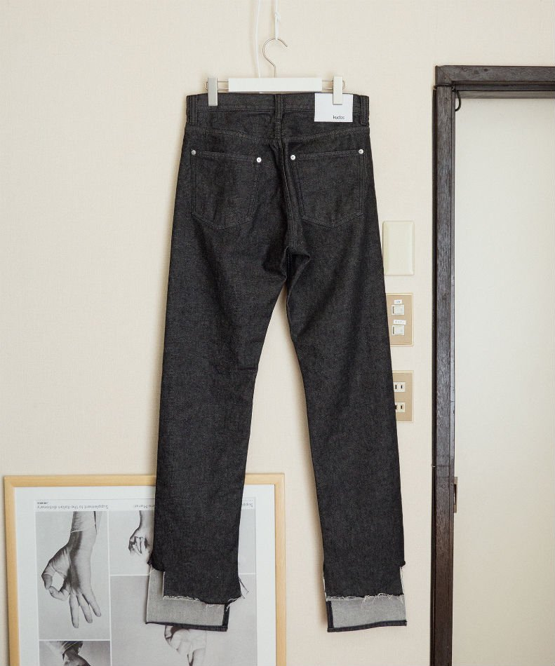 kudos<br />MY OLD DENIM TROUSERS BLACK<img class='new_mark_img2' src='//img.shop-pro.jp/img/new/icons14.gif' style='border:none;display:inline;margin:0px;padding:0px;width:auto;' />