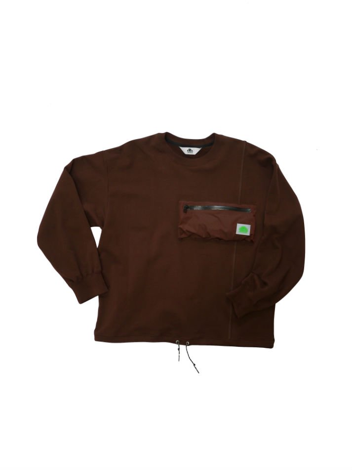 JieDa×ellesse<br />LOGO SWEAT BROWN<img class='new_mark_img2' src='//img.shop-pro.jp/img/new/icons14.gif' style='border:none;display:inline;margin:0px;padding:0px;width:auto;' />