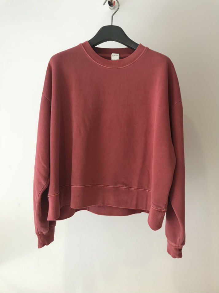 KAIKO<br />OBLONG C.N SWEAT PIGMENT RED BROWN<img class='new_mark_img2' src='//img.shop-pro.jp/img/new/icons14.gif' style='border:none;display:inline;margin:0px;padding:0px;width:auto;' />
