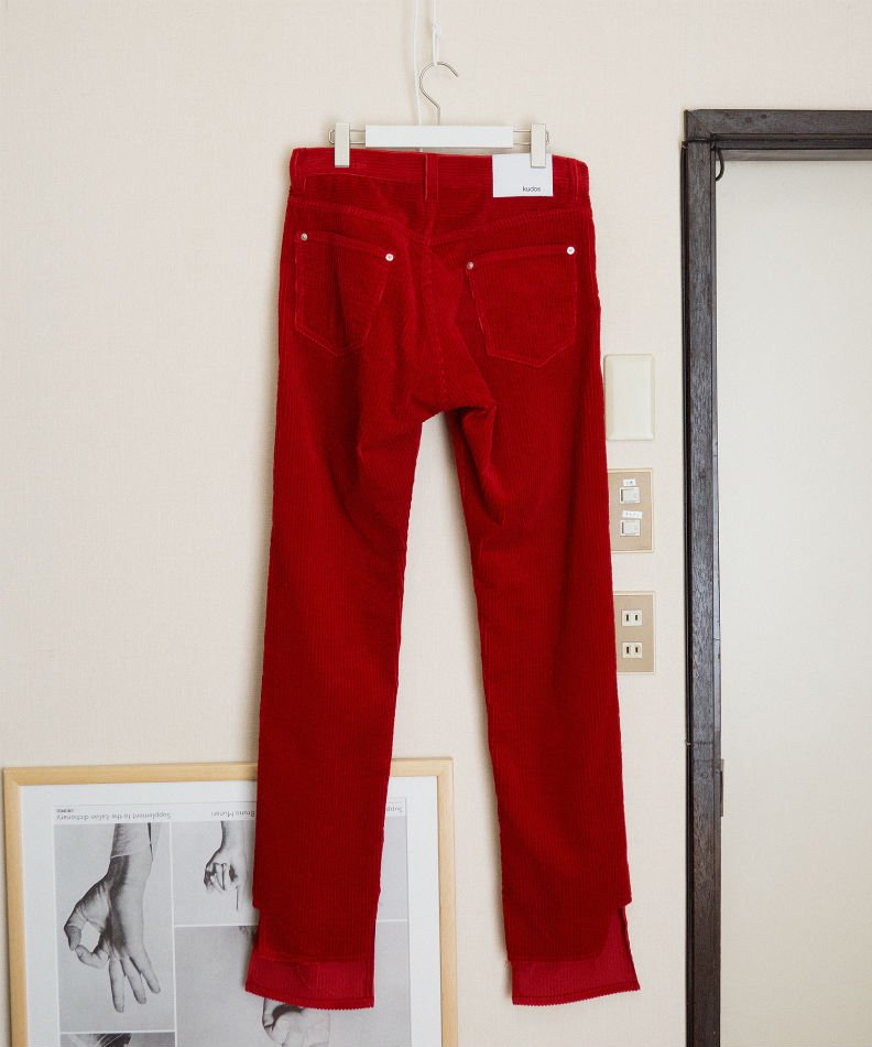kudos<br />MY OLD CORDUROY TROUSERS RED<img class='new_mark_img2' src='//img.shop-pro.jp/img/new/icons55.gif' style='border:none;display:inline;margin:0px;padding:0px;width:auto;' />