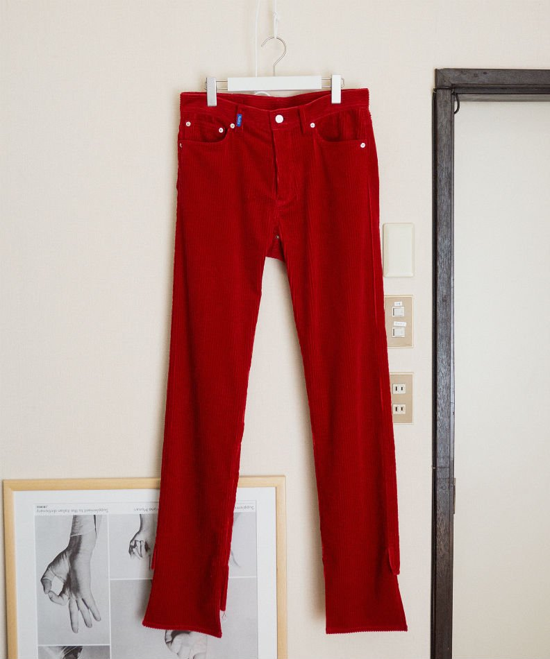 kudos<br />MY OLD CORDUROY TROUSERS RED<img class='new_mark_img2' src='//img.shop-pro.jp/img/new/icons14.gif' style='border:none;display:inline;margin:0px;padding:0px;width:auto;' />