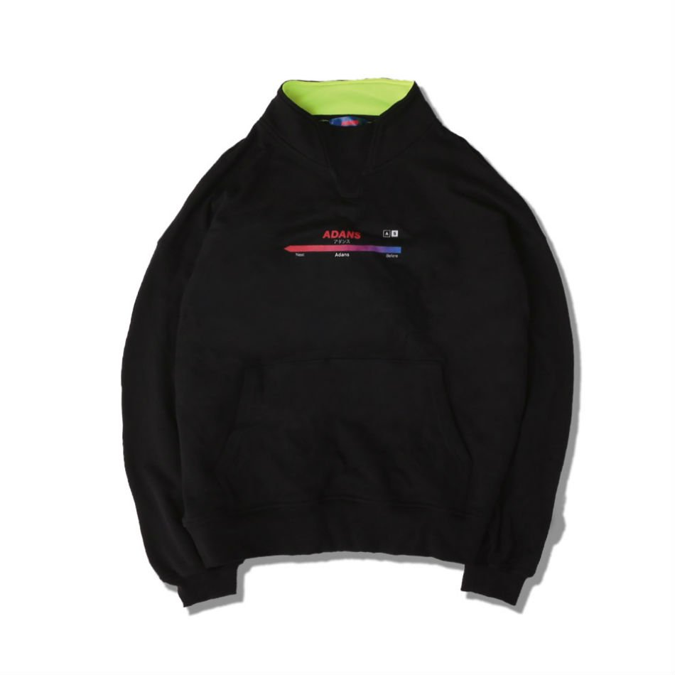 ADANS<br />MOCK NECK SWEAT PULLOVER BLACK<img class='new_mark_img2' src='//img.shop-pro.jp/img/new/icons14.gif' style='border:none;display:inline;margin:0px;padding:0px;width:auto;' />
