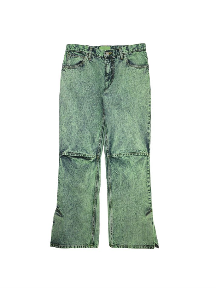 JieDa<br />SLIT DENIM PANTS CHEMICAL MINT<img class='new_mark_img2' src='//img.shop-pro.jp/img/new/icons14.gif' style='border:none;display:inline;margin:0px;padding:0px;width:auto;' />