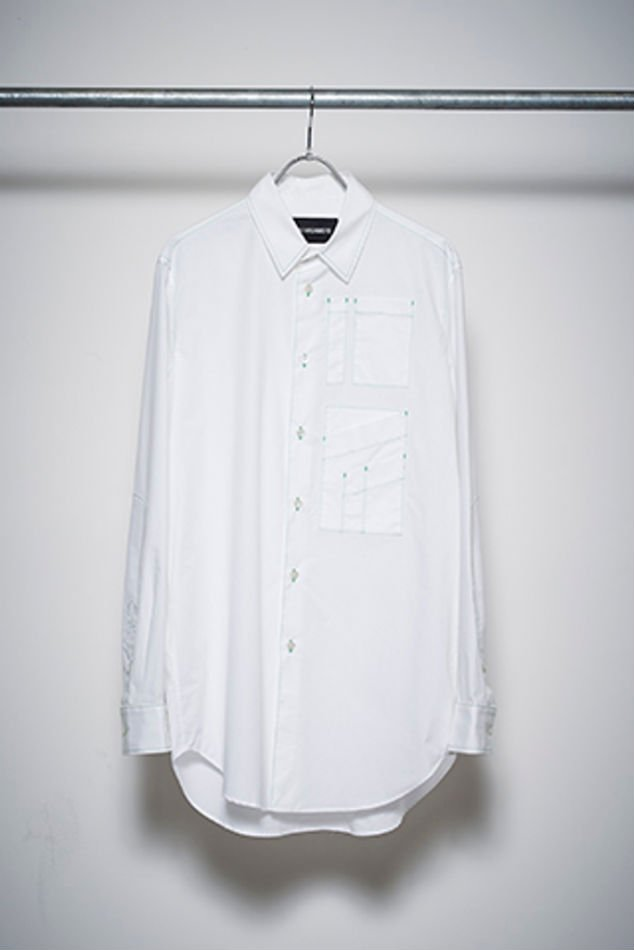 YUKI HASHIMOTO<br />CONTRAST STITCH LONG SLEEVE OFFICER / WHITE<img class='new_mark_img2' src='//img.shop-pro.jp/img/new/icons47.gif' style='border:none;display:inline;margin:0px;padding:0px;width:auto;' />