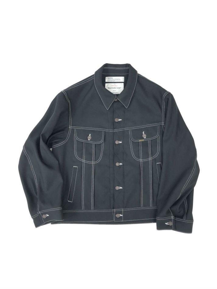 DAIRIKU<br />REGULAR Polyester Jacket / Black<img class='new_mark_img2' src='//img.shop-pro.jp/img/new/icons47.gif' style='border:none;display:inline;margin:0px;padding:0px;width:auto;' />