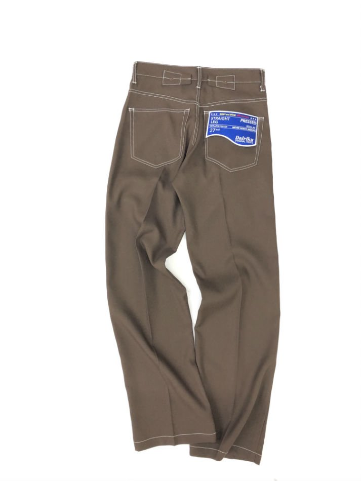 DAIRIKU<br />Flasher Pressed Pants / Brown<img class='new_mark_img2' src='//img.shop-pro.jp/img/new/icons14.gif' style='border:none;display:inline;margin:0px;padding:0px;width:auto;' />