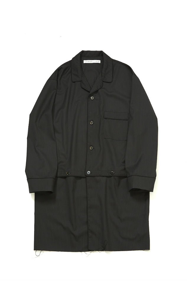 soe<br />Connected Sleeping Coat Stripes / BLACK<img class='new_mark_img2' src='https://img.shop-pro.jp/img/new/icons47.gif' style='border:none;display:inline;margin:0px;padding:0px;width:auto;' />