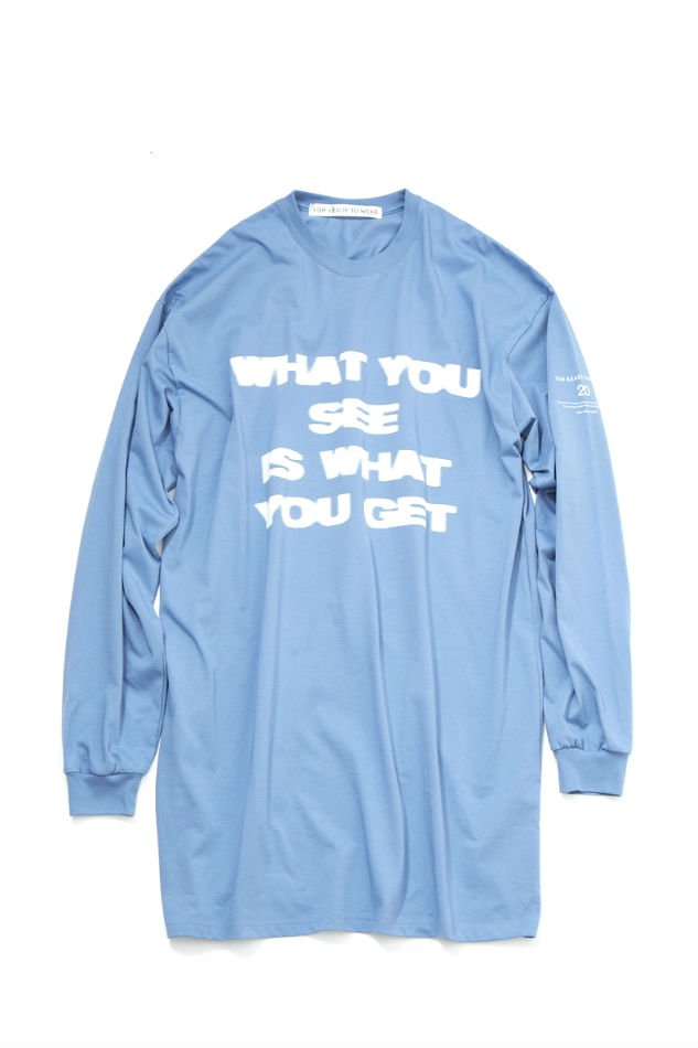 soe<br />L/S Long T-Shirt WHAT YOU SEE IS WHAT YOU GET / BLUE<img class='new_mark_img2' src='https://img.shop-pro.jp/img/new/icons47.gif' style='border:none;display:inline;margin:0px;padding:0px;width:auto;' />