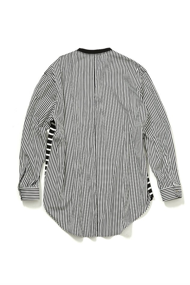soe<br />Thomas Mason Multi Fabric Shirt Border and Stripe / BLACK<img class='new_mark_img2' src='//img.shop-pro.jp/img/new/icons14.gif' style='border:none;display:inline;margin:0px;padding:0px;width:auto;' />