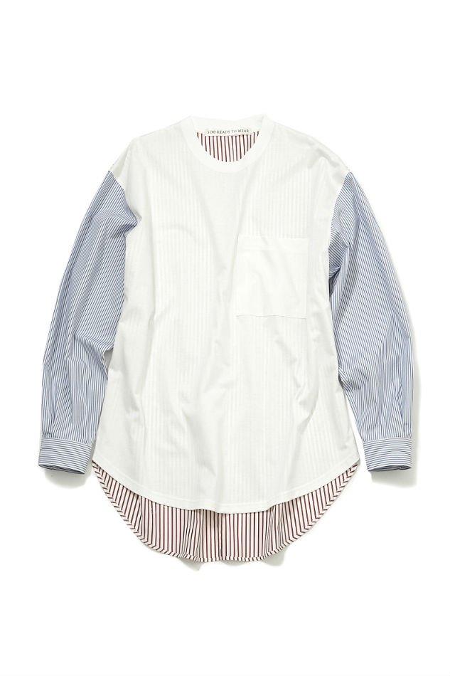 soe<br />Thomas Mason Multi Fabric Shirt / WHITE<img class='new_mark_img2' src='https://img.shop-pro.jp/img/new/icons47.gif' style='border:none;display:inline;margin:0px;padding:0px;width:auto;' />