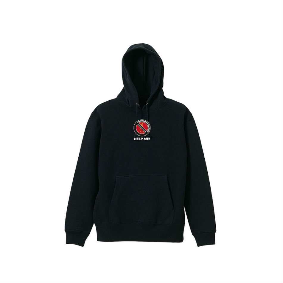 ADANS<br />HELP ME HOODIE / BLACK<img class='new_mark_img2' src='https://img.shop-pro.jp/img/new/icons47.gif' style='border:none;display:inline;margin:0px;padding:0px;width:auto;' />