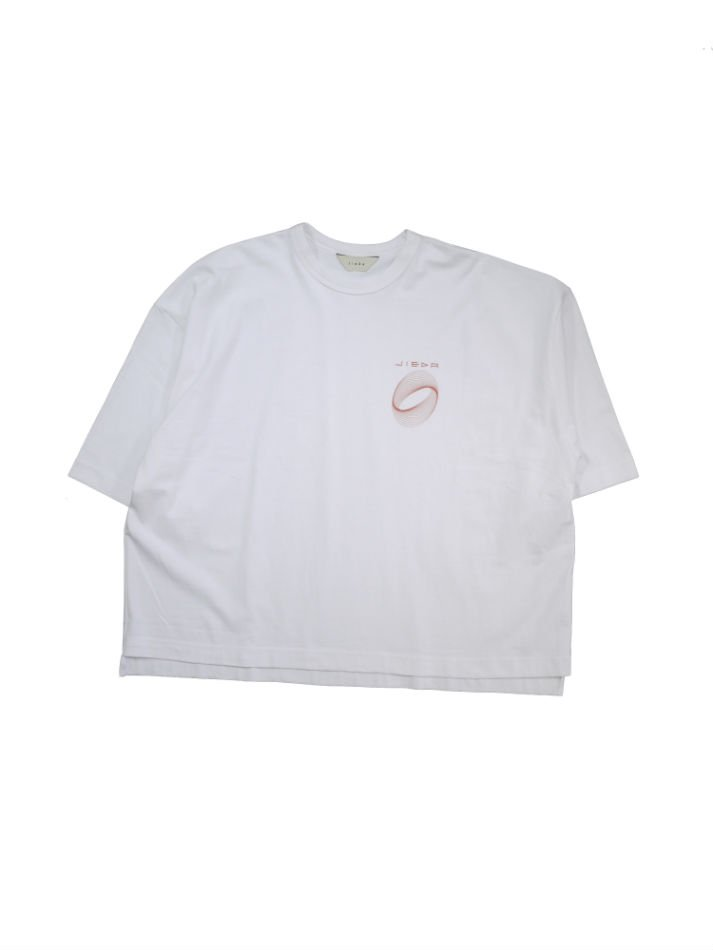 JieDa<br />CIRCLE PRINT T-SHIRT / WHITE<img class='new_mark_img2' src='//img.shop-pro.jp/img/new/icons14.gif' style='border:none;display:inline;margin:0px;padding:0px;width:auto;' />