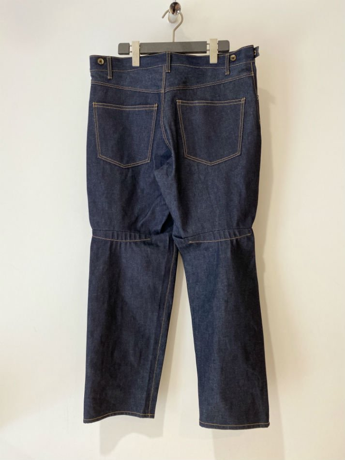 KHOKI<br />Circle denim pants / Navy<img class='new_mark_img2' src='//img.shop-pro.jp/img/new/icons14.gif' style='border:none;display:inline;margin:0px;padding:0px;width:auto;' />