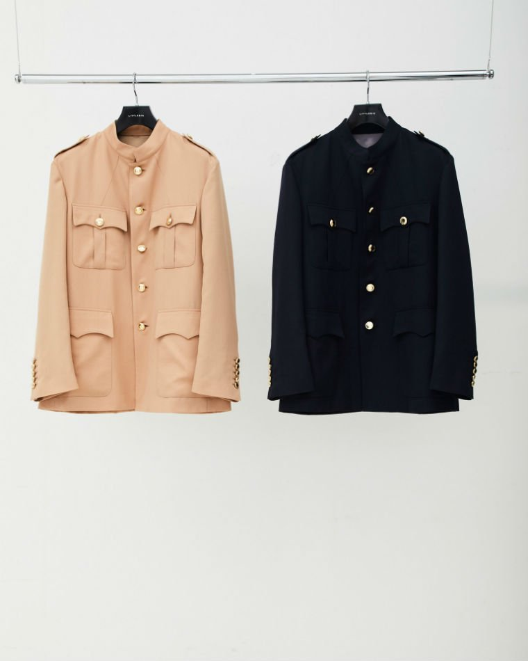 LITTLEBIG<br />[30%off] Stand Collar Safari Jacket / Navy<img class='new_mark_img2' src='https://img.shop-pro.jp/img/new/icons20.gif' style='border:none;display:inline;margin:0px;padding:0px;width:auto;' />