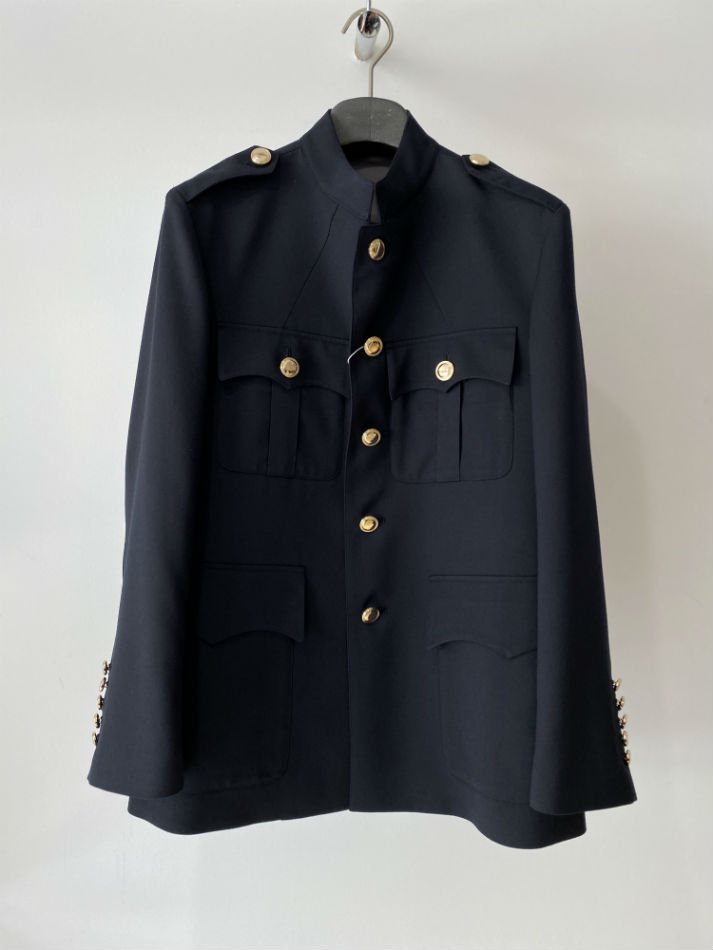 LITTLEBIG<br />Stand Collar Safari Jacket / Navy<img class='new_mark_img2' src='//img.shop-pro.jp/img/new/icons14.gif' style='border:none;display:inline;margin:0px;padding:0px;width:auto;' />